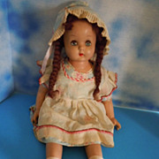 1940's Composition 24&quot; Girl w/Original Clothes