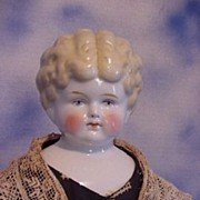 "22"" Hertwig China Lady Low Brow in Silk Clothes!"