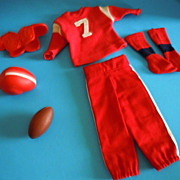 1963 Mattel Ken Tagged Clothes &quot;Touchdown&quot; Football Outfit