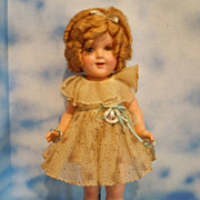 1930's Ideal 20&quot; Shirley Temple Composition All Original w/Pin