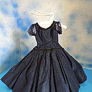 SOLD 1950's Alexander Cissy Navy BlueTaffeta Dress