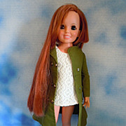 1970's Ideal Talking Crissy Grow Red Hair, Mod ,Talks!