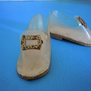 "HTF! 1950's Mary Hoyer Cinderella Shoes for the 14"" Hard Plastic Doll"