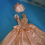 "1950's Mary Hoyer Pink Gown Dress & Hat for 14"" Hard Plastic Doll"
