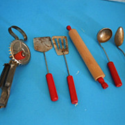 Vintage Lot of (6) Kitchen Utensils for Children or Doll