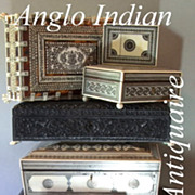 SOLD Antique Anglo Indian Rosewood Box