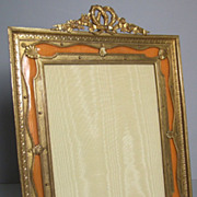 SOLD Magnificent  French Empire Palais Royal Dore Bronze Enamel Frame