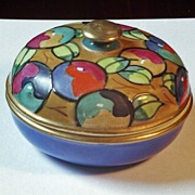 Art Deco Bursley ware Powder Box attributed to Charlotte Rhead