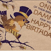 Art Deco Birthday Greetings Circa 1930's
