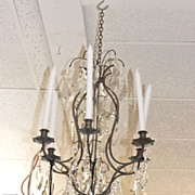 19th Century Louis XIV Style French Chandelier (6 candles)