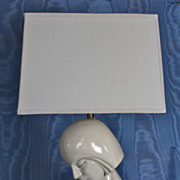 Pair of Monumental American Art Moderne Ceramic Lamps