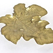 Virginia Metalcrafters Fig Leaf tray c. 1949