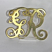 Virginia Metalcrafters King George Brass Trivet c. 1941