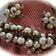 SALE Miriam Haskell Demi, Parure,Hand Wired, Faux Pearl and Crystal
