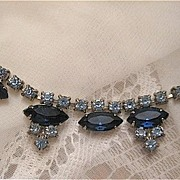 SALE Elegant Rhinestone Demi Parure with Dangling Earrings