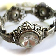 SALE 1950�s Ornate Link Bracelet