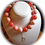 SALE Exquisite  Knotted Italian Bead Necklace