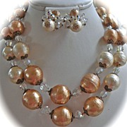 SALE Radiant Vendome Choker Necklace and Clip Earrings Demi Parure