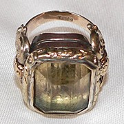 SALE SALE! Stunning Georgian 18ct Citrine Ring