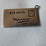 Vintage Sterling Silver Air Mail Letter