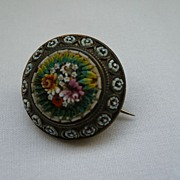 Antique Micro Mosaic Brooch/Pin