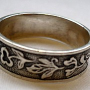 SALE Vintage Sterling Russian Wedding Band