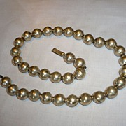 Vintage Sterling Beads Necklace