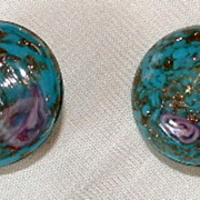 Vintage Venetian Glass Earrings