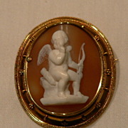 SALE! Victorian Gold Cameo Of A Cherub