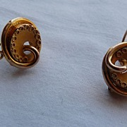 Antique Victorian  Earrings, 10 - 14ct Gold