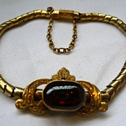 Victorian 18ct Gold and Garnet Bracelet