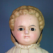 SOLD Wonderful Wax-Over-Composition Doll with Alice Hairdo