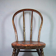 Wonderful 19th Century Windsor-Style Doll's Chair