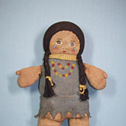 Vintage Nelke Cloth Indian Doll ca.1920's