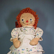 "19"" Raggedy Ann by Georgene Novelties, Inc. All Original"