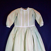 Fabulous Antique Cotton Doll Dress