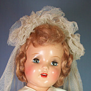 1940's Vintage Composition Bride Doll - All Original