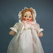 Adorable Cloth Doll With Mask Face All Original ca.1940's