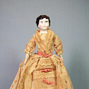 Early German China Head Doll - All Original