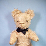 Sweet Vintage Mohair Teddy Bear With Glass Eyes