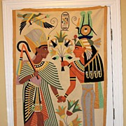 Fabulous Art Deco EGYPTIAN REVIVAL Portiere Tapestry