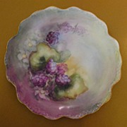 Antique Bawo and Dotter Limoges-France Hand Painted Porcelain Blackberry Plate