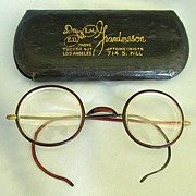 "Wonderful Vintage Round ""Owl"" Spectacles Celluloid with 12K Gold Fill- Advertising C"