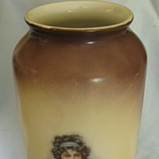 Lovely Vintage German C. Tielsch (C.T.) Porcelain Vase- Mother and Daughter- Early 1900's