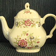 Rare Vintage Franciscan Staffordshire &quot;Mandarin&quot; Teapot- Made in England