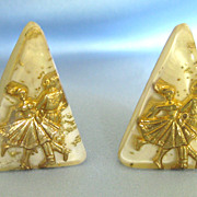 Fun Vintage Square Dancer Earrings- 1950's