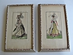 Pair of Lovely Vintage Fashion Prints