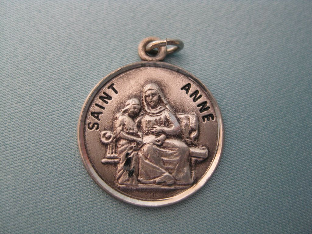 Beautiful Sterling Medal of Saint Anne