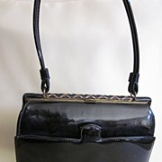 Vintage Nicholas Reich for I. Magnin Black Patent Purse