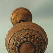 Two Sets of Victorian Ornate Copper Doorknobs